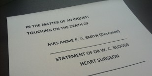 Inquest Law - Coroner - Legal Representation